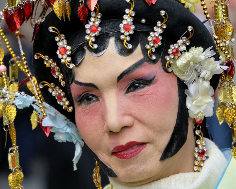 Maquillage au nouvel an chinois à Paris